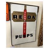 """Reda Pumps Sign - 14"""" x 20"""""""