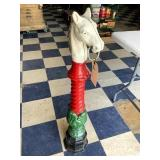 Horsehead Hitching Post