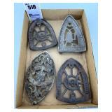 4 Sad Iron Trivets