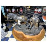 Large Lyle E. Johnson Bronze Sculpture