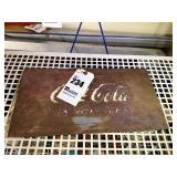 "Old Metal Coca-Cola Sign - 15"" x 8"""