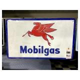 Mobil Gas Enamel Sign by Phoenix Sign Co.