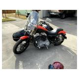 08 Harley Davidson Nightster Motorcycle w/Side Car