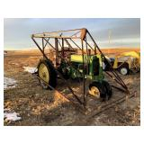 John Deere G Tractor with Cable Loader