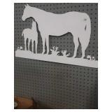 Metal horse sign