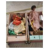 Barbie doll and chest and clothes
