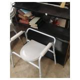 Shelf  and potty chair