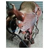 """Billy Cook 16"""" saddle Greenville TX"""