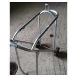Aluminum rolling saddle rack