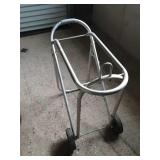 Another aluminum rolling saddle rack