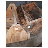 2 wood carpenter boxes