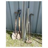 Pry bar shovels