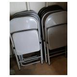 9 metal folding chairs