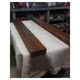 """2 87""""×7""""×4"""" hand carved wood beams"""
