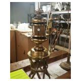 Brass lamp and stand