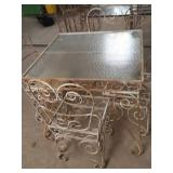 Home made wrought iron table and 4 chairs