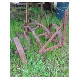 Iron wheel 2 bottom plow