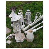 Cast aluminum light pole parts and pieces