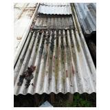 Pile corrugated tin