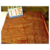 "Casabella Italian Tapestry 116""x68"" - Red & Gold"