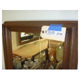 "Mirror 21""x25"" Wood Frame"