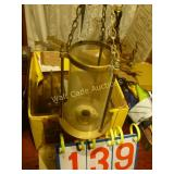 Hanging Brass Candle Lantern Set of 2 Note: 1 has