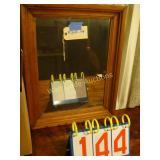 "Mirror - Beveled Wood Framed 19.5""x25"""
