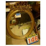 """Oval Mirror Size 28""""x35"""""""