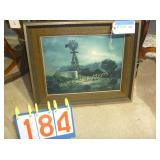 """Framed Windmill  24""""x20"""""""