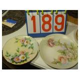 Collectable Floral Plates - as shown