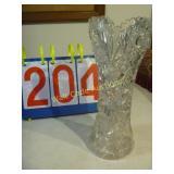 Crystal Vase  - American Brilliant Cut Glass -