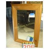 "Mirror - Beveled - All Wood Hanging - 26""x39"""