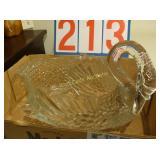 Glass Swan Bowl