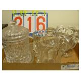 Pitcher, 3 Candy Dishes - American Brilliant Cut