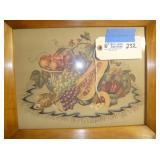 """Fruit Art Framed (1) 17""""x14"""""""