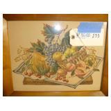 """Fruit Art Framed (#2)  17""""x14"""""""