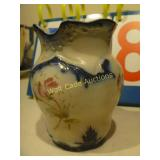 Blue Colonial Vase with Floral Design