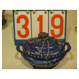 British Blue - Hall Scenery Dish Note: Cracked