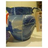Wistow Hall - Blue Colonial Water Pitcher with