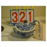 British Teapot - Blue Flower Pattern Note: