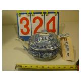 British Teapot - Blue Flower Pattern