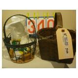 Baskets 1 Metal & 1 Hand Woven