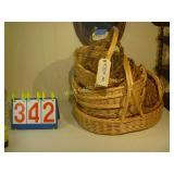 Wicker Baskets - Mixed lot 0f 12