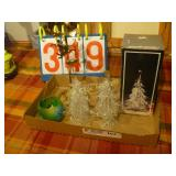Glass Trees, and Candle Holder/Propeller - Mixed