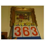 """Farm House Art Framed 14""""x12"""" - Gold"""