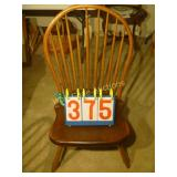 "Windsor Antique Spindle Back Chair - Stamped ""B."