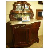 Marble Antique  Curio Cabinet / Bar - Stunning -