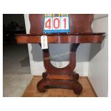 Drop Leaf - Swivel Double Leaf Antique Table on