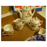 German Tea Set , English Bowl and Steeper