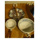 Strainer, Ladle, and Plate - Mixed Lot